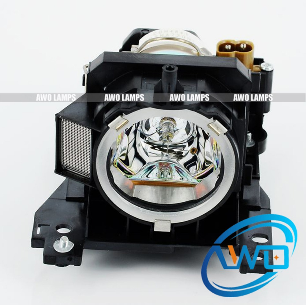 AWO DT00841 Projector Lamp with Housing for HITACHI Projectors CP-X200/X205/X30/X300/X300WF/X305/X32/X308/X400/X417/X417 dt00591 sp lamp 015 projector lamp with housing for hitachi cp x1200 lp840 pj1165 brand new tv projectors