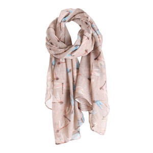 Scarf Women Shawl Dragonfly-Printed Warm-Wrap Fashion Luxury Brand PK