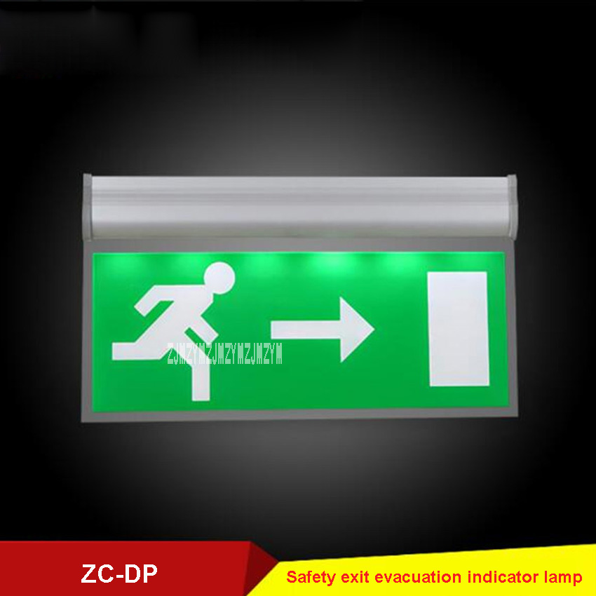 5pcs/lot ZC-DP Acrylic Stop Sign Fire <font><b>Emergency</b></font> <font><b>Lighting</b></font> Fixtures Safety Exit Evacuation Indicator Lamp 110V/<font><b>220V</b></font> 3W 50-300cd/m2 image