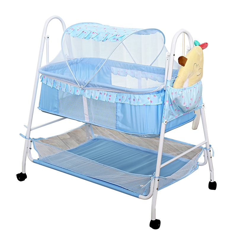 High Quality Electric Baby Cradle Three Timing Newborn Swing Rocking Crib Music