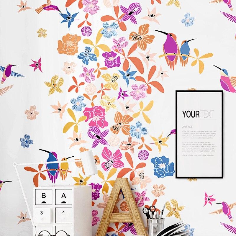 Petit papier peint frais Art moderne Simple pastorale Style japonais petit Floral chaud chambre salon nordique papier peint