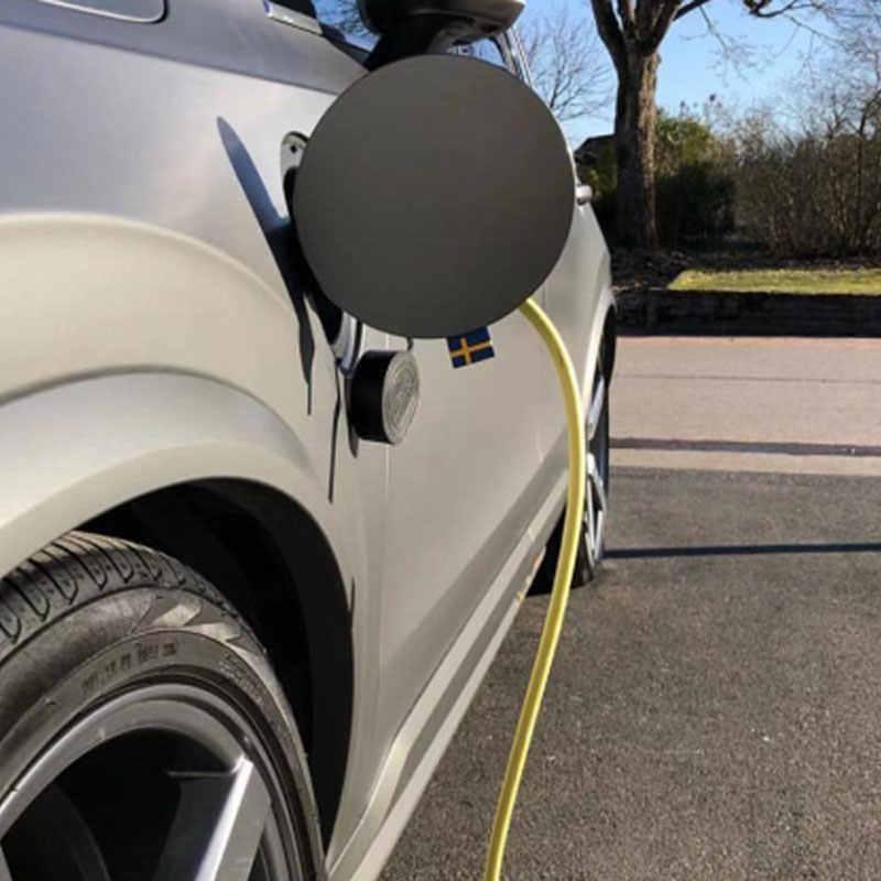 2-100 adet araba Styling İsveç bayrağı kauçuk dekor 3D etiket amblemi ön ızgara gövde VOLVO XC40 XC90 v90 S90 XC60 C70 V70 V50