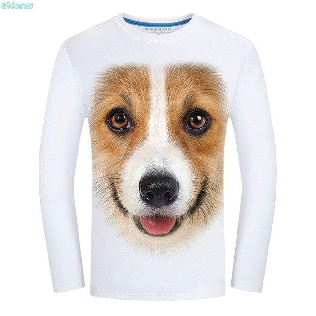 2017 Spring T-shirt Kids Boys Children Long Sleeve Printed Cotton 3D Dog  Funny T Shirts for Men Teen Boys Clothes Tops 5xl 6xl