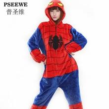 Spider man Flannel Animal Cosplay Costumes Garment Cute Pajamas Adult Unisex Onsies Pyjamas