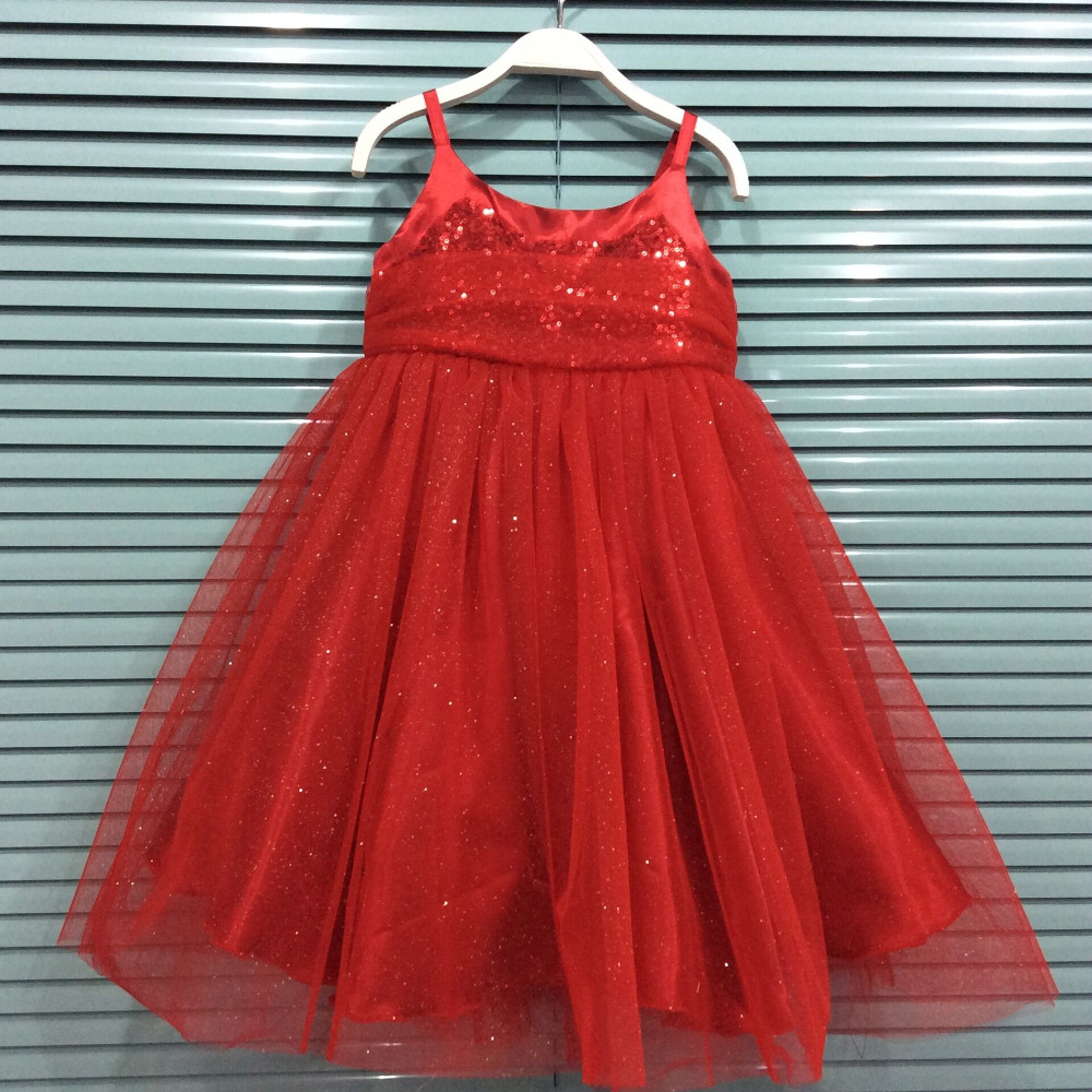EMS DHL Free shipping Kids Girls toddlers 2017 New Summer Style Princess Gauze Tulle Dress Sparkle Suspender Sequin Dress dhl ems 2 sets 1pc new sick ime12 04bpszw2k