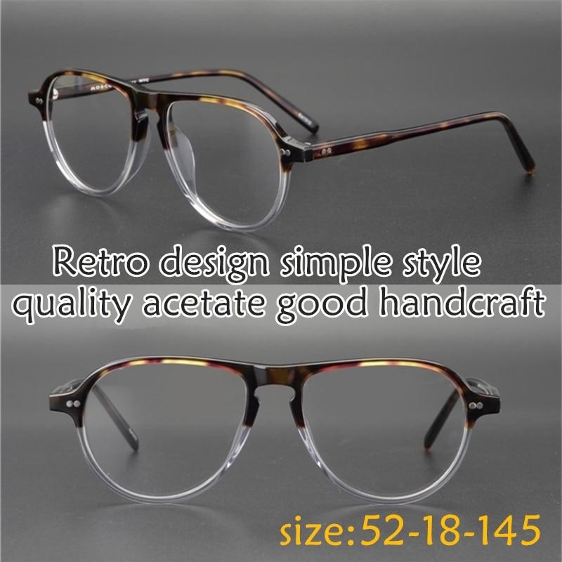Vintage Acetate eyeglasses frame JASPER Unique design classical round big size eyewear women men original box