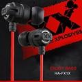 Xtremed xplosives ha-fx1x auriculares in-ear auriculares graves profundos estupendos 3.5mm gaming auriculares para xiaomi & iphone mp3/4 pc