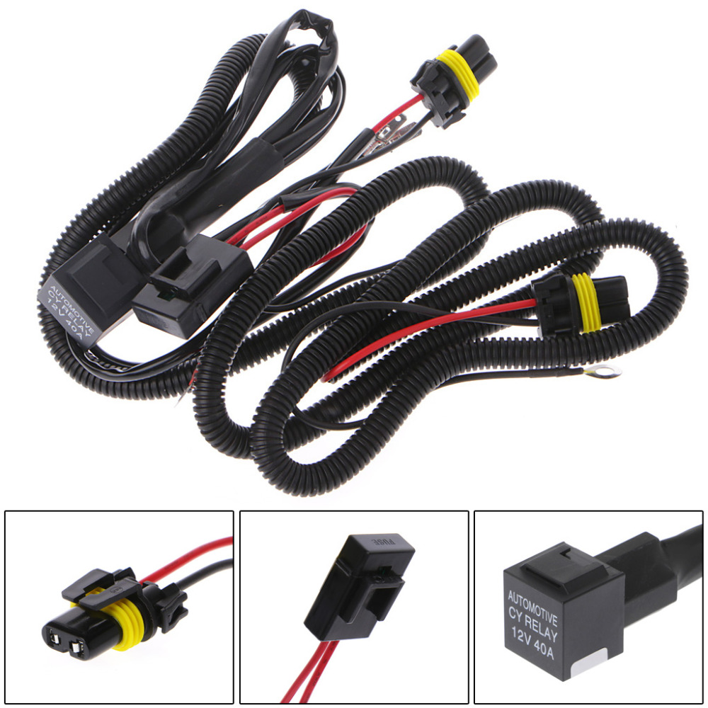 HID Xenon Relay Wire Conversion Light Wiring Harness 9006 9005 H1 H7 H8 H9 H11 9006 9005