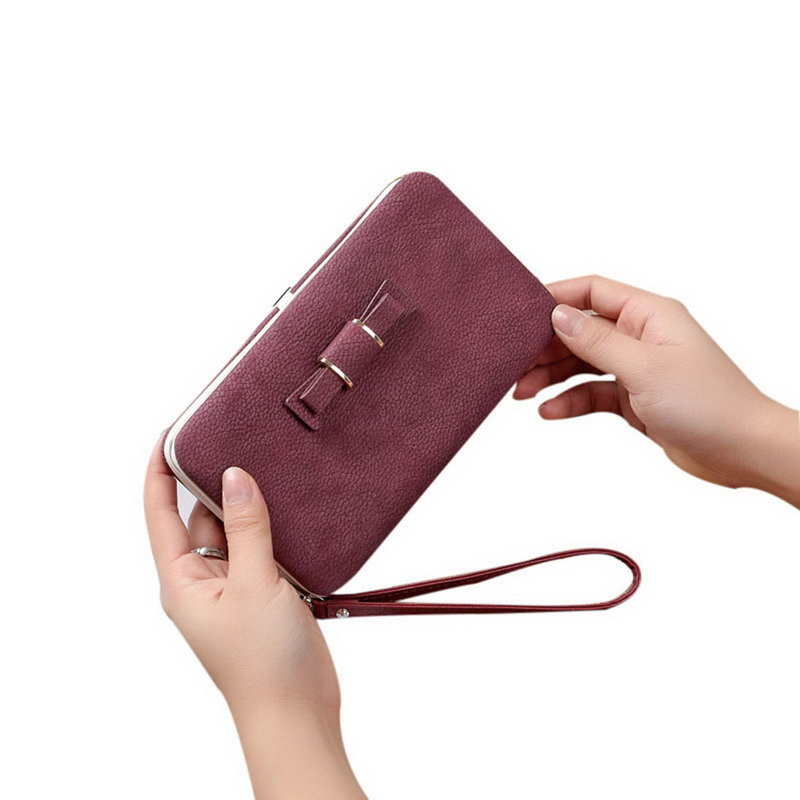 NIBESSER 10 Colors Fashion PU Leather Purse Small Flap Bow Coin Purse Women Day Clutches Female Kawaii Bags Portable Money Pouch