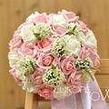 PE Real Toque de Rose Red Marfim Nupcial Do Casamento Bouquet Multi-cores para escolher