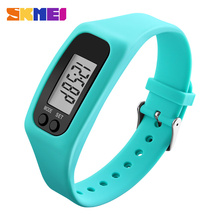 Skmei hombres chico reloj correa de silicona de moda reloj de pulsera de calorías podómetro digital relogio masculino mujeres relojes deportivos