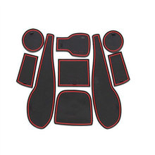Antiscivolo Porta per Interni Mat Pad Coppa Mats Pads Porta Slot Cuscino Anti-Slip Mat Misura Per Aveo Sonic 2011 2012 2013 9 pz Per Set