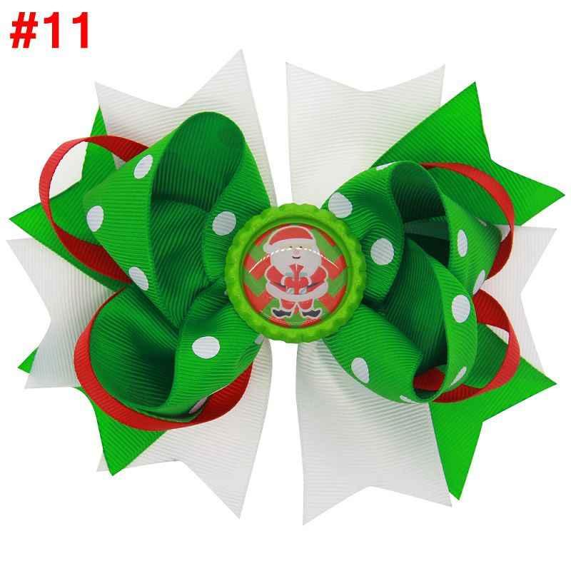 Naturalwell Рождество зеленый шеврон бабочка для смокинга Hairbow широкая лента бант девичьи заколки-пряжки бант ребенок негабаритный бант ребенок подарок BB052