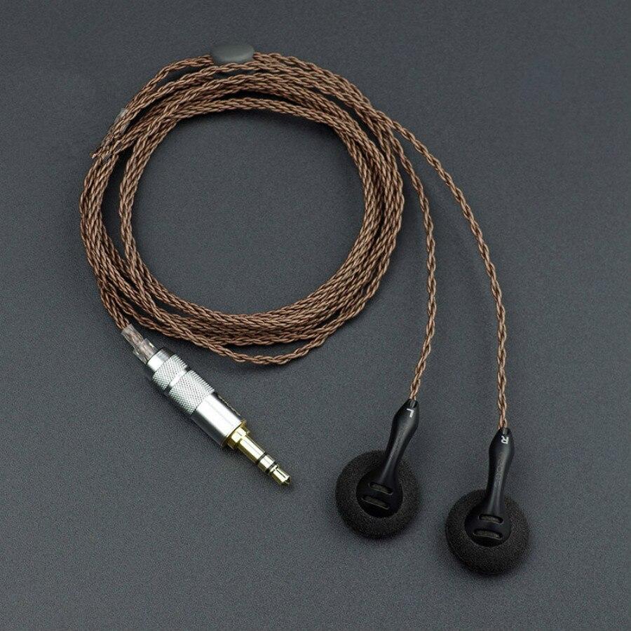 Shozy bk alta sensibilidade baixa resistência alta fidelidade audiophile aberto cabeça plana música dj monitor estéreo 2.5mm 3.5 fones de ouvido