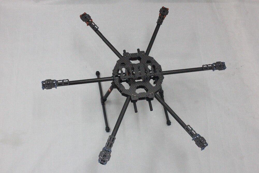 F04299 Tarot FY680 z włókna węglowego 3 K pełna składana Hexacopter 680mm FPV samolotu rama z 6 osi hexa Copter UFO zestaw TL6801 + w Części i akcesoria od Zabawki i hobby na  Grupa 1