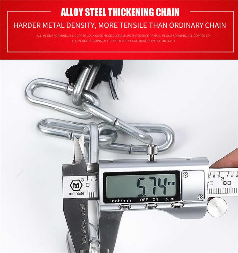 West Bersepeda Sepeda Lock Steel Anti-Pencurian Sepeda Rantai Kunci Keamanan Diperkuat Bersepeda Rantai Kunci Sepeda Motor Aksesoris Sepeda