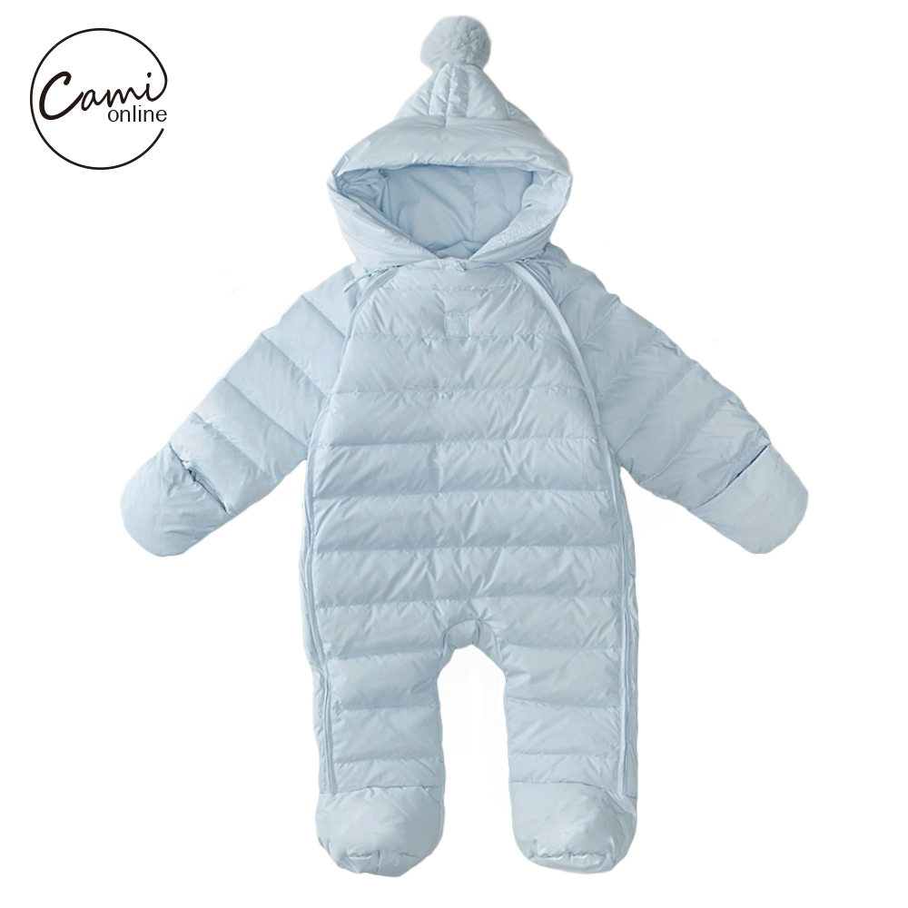 8b2a27f47532 Baby Rompers Newborn Boys Girls Thermal Duck Down Winter Snowsuit ...