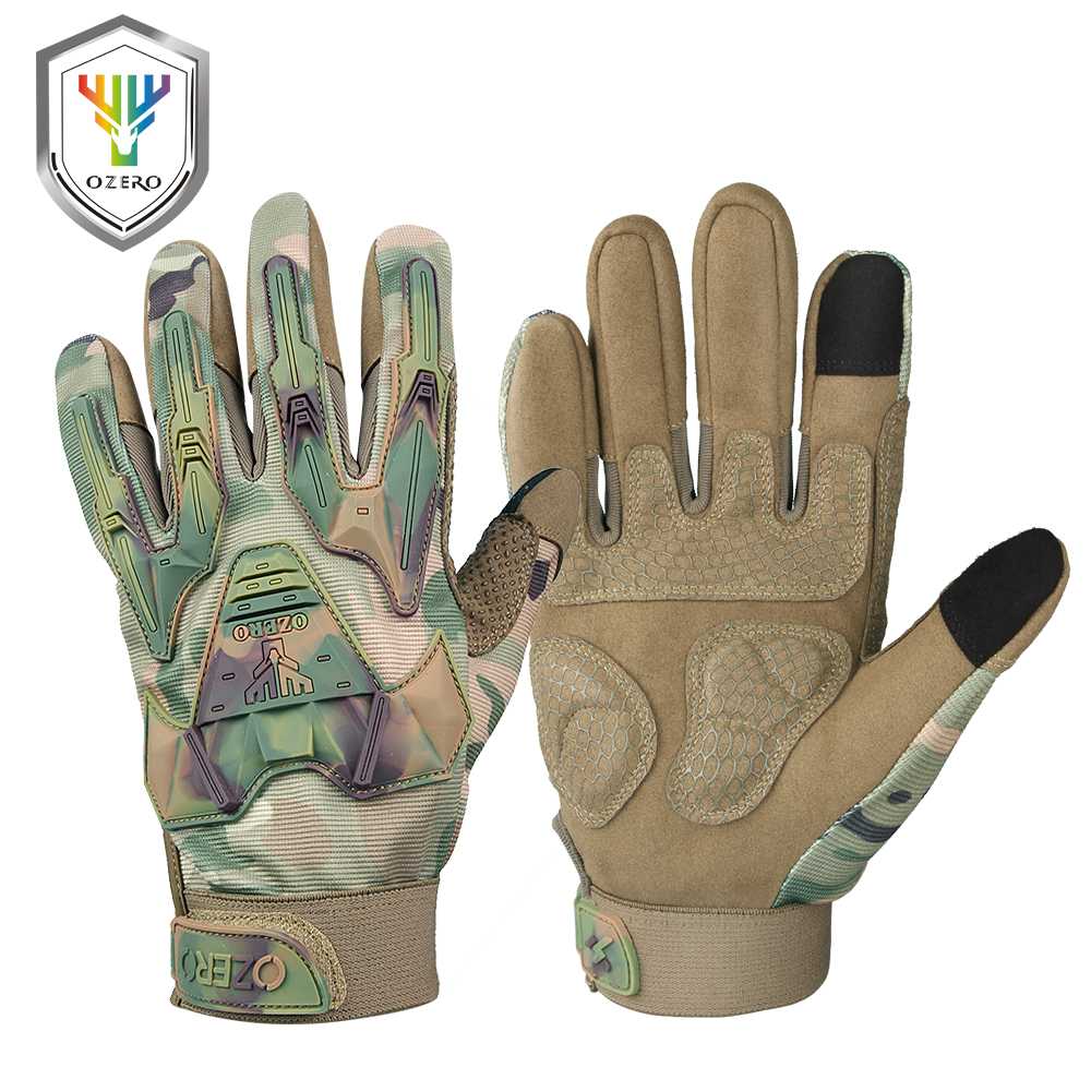 OZERO Work Gloves Men's Leather Genuine Driver Security Protection Wear Safety Workers Welding Mechanic Gloves 9021
