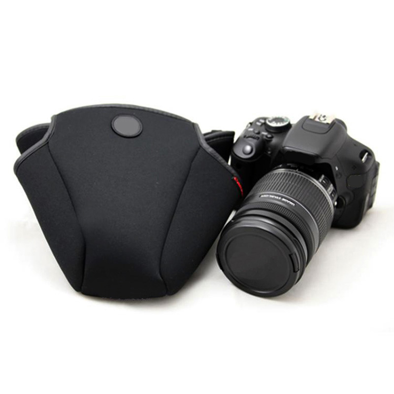 Neoprene Soft Pouch Camera <font><b>Cover</b></font> Case for <font><b>Canon</b></font> 500D <font><b>550D</b></font> 600D 650D 700D 750D 760D with 18-135 18-200 mm Lens Protector bag image