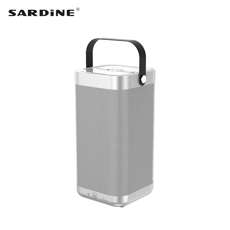 Sardine A9 portable bluetooth wireless speaker 16W high power stereo sound box with karaoke support TF card USB MP3 FLAC outdoor kaish black p90 high power sound neck