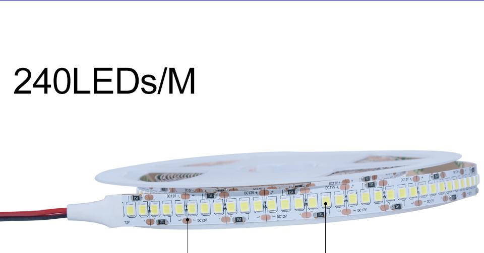 Ultra Bright SMD 2835 LED Strip DC 12V Flexible Waterproof Led Strip High Lumen LED Light Tape Ribbon Lamp 5MRoll 3528 5050 SMD Indoor 11