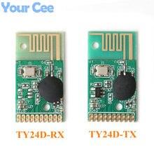2.4G kablosuz uzaktan kumanda modülü verici ve alıcı modülü kiti şanzıman resepsiyon haberleşme 6 kanal TY24D