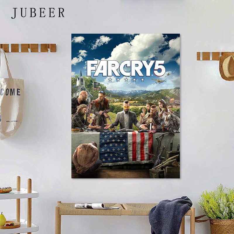 Far Cry 5 игра Шелковый плакат Настенная картина искусство для спальни декоративная живопись Домашний декор обои для гостиной