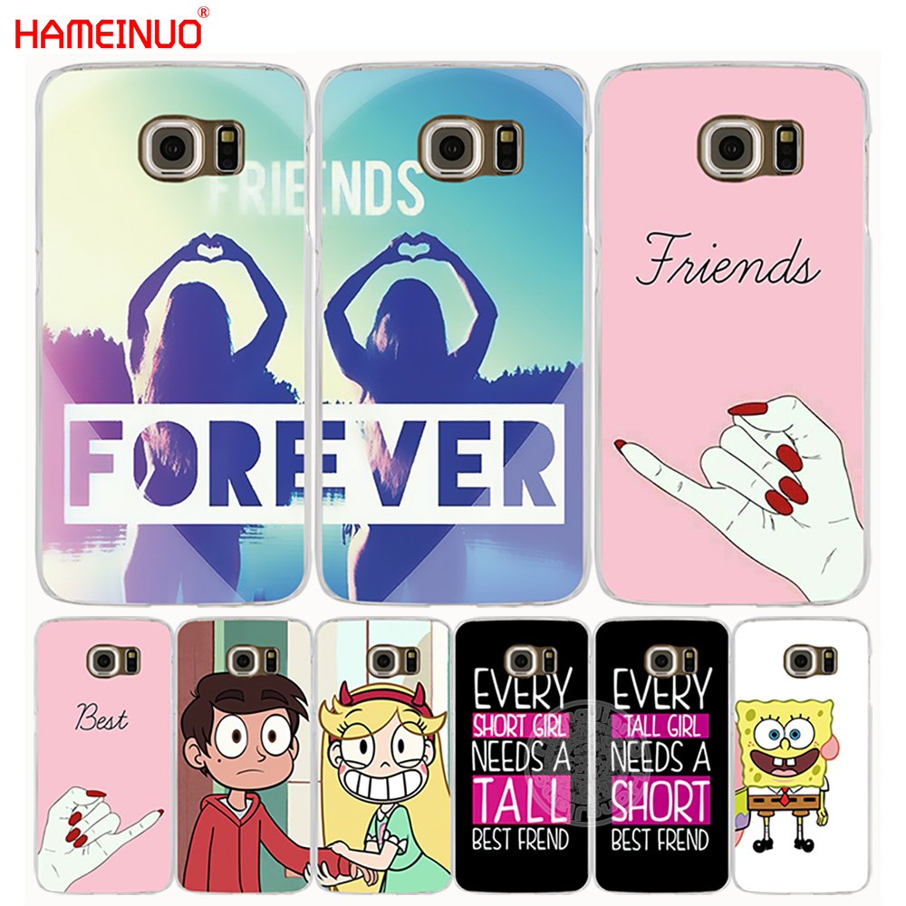 HAMEINUO best friend forever lovers couple cell phone case cover for Samsung Galaxy S7 edge PLUS S8 S6 S5 S4 S3 MINI Сотовый телефон