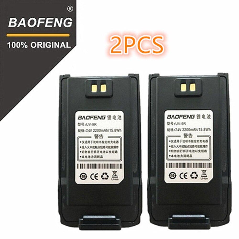 100% Original BaoFeng UV-9R Walkie Talkie 7,4 V 2200 mah Li-Ion Akku für Pofung UV 9R zweiwegradio UV9R Woki toki