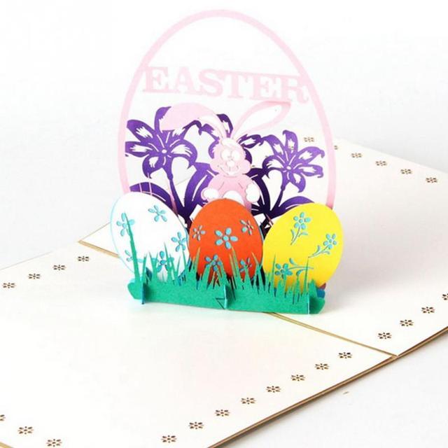 happy easter 3d uova di pasqua coniglio pop up cartoline di