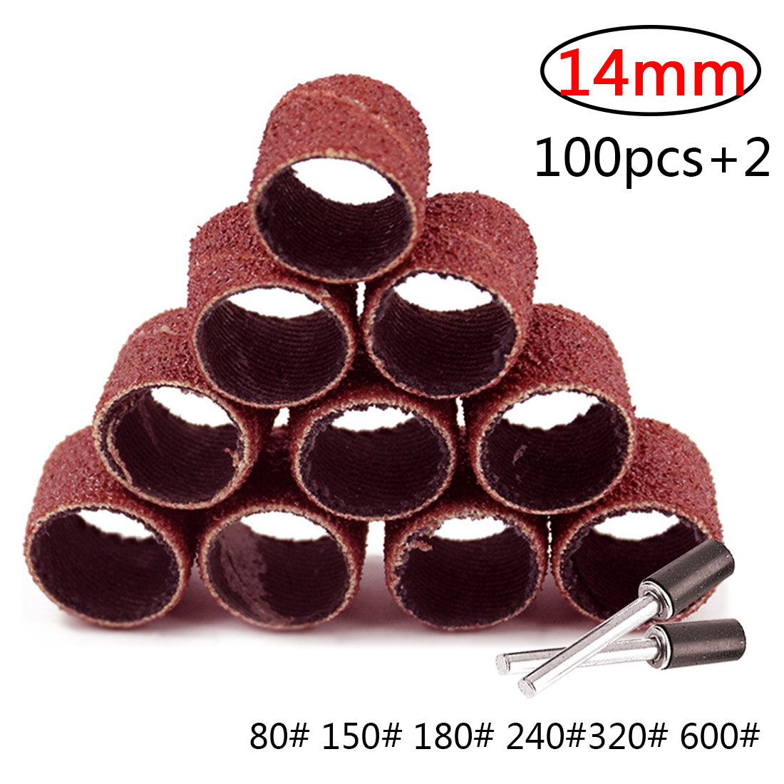 Sandpaper Circle Drum Sanding Kit Sanding Bands With 2 Mandrel For  Dremel Accessories Rotary Tool Nail Drill Bit Abrasive Tool
