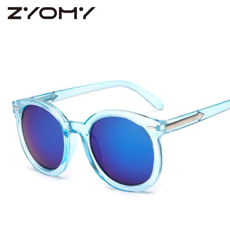 Gafas de sol Mujeres Goggle Diseñador de la marca Redondo - Accesorios para la ropa