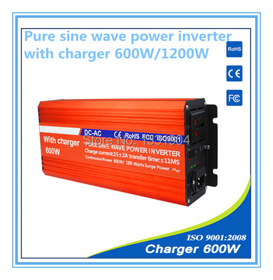 12V to 220V 600W Pure Sine Wave Power Inverter With Buildin Charger with Automatic Transfer for solar inverter, car inverter pure sine wave inverter 12v to 220v 600w