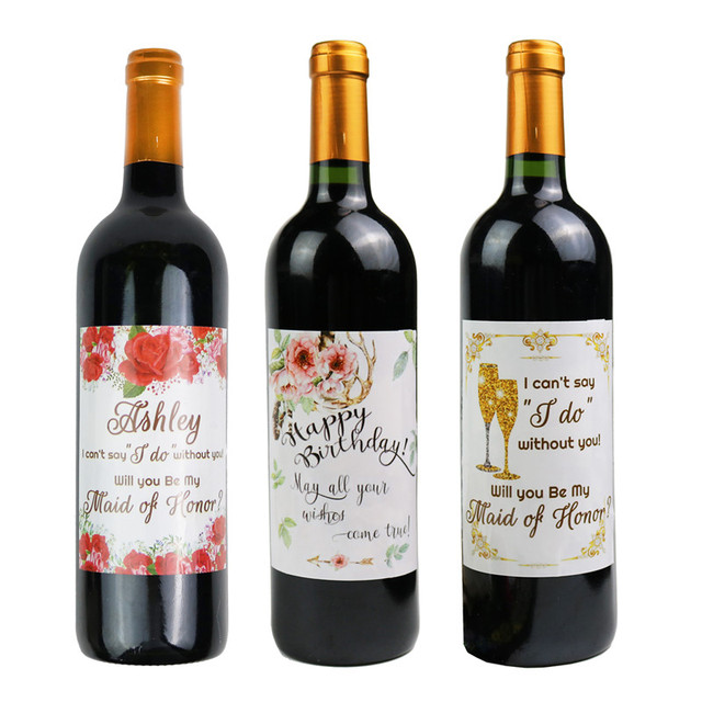 Wedding Decoration Wine Labels Bridesmaid Proposal Gift Bridesmaid