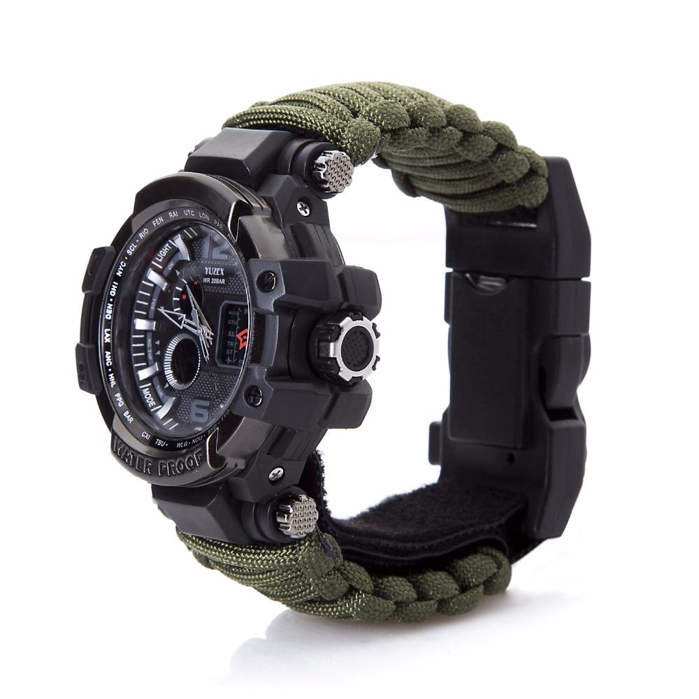 新的户外生存手表手链多功能防水50M手表男士女士露营远足军事战术露营(5)