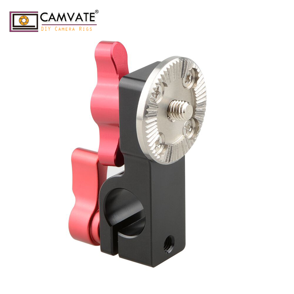 CAMVATE 15mm Rod Clamp with Male ARRI Rosette Mount Red Thumbscrew C1707 camera photography accessories