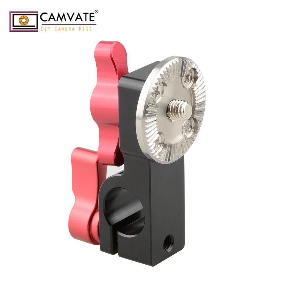 Pince à tige CAMVATE 15mm avec support de rosace ARRI mâle (vis miniature rouge) C1707 accessoires de photographie d'appareil photo-in Accessoires pour studio photo from Electronique    1