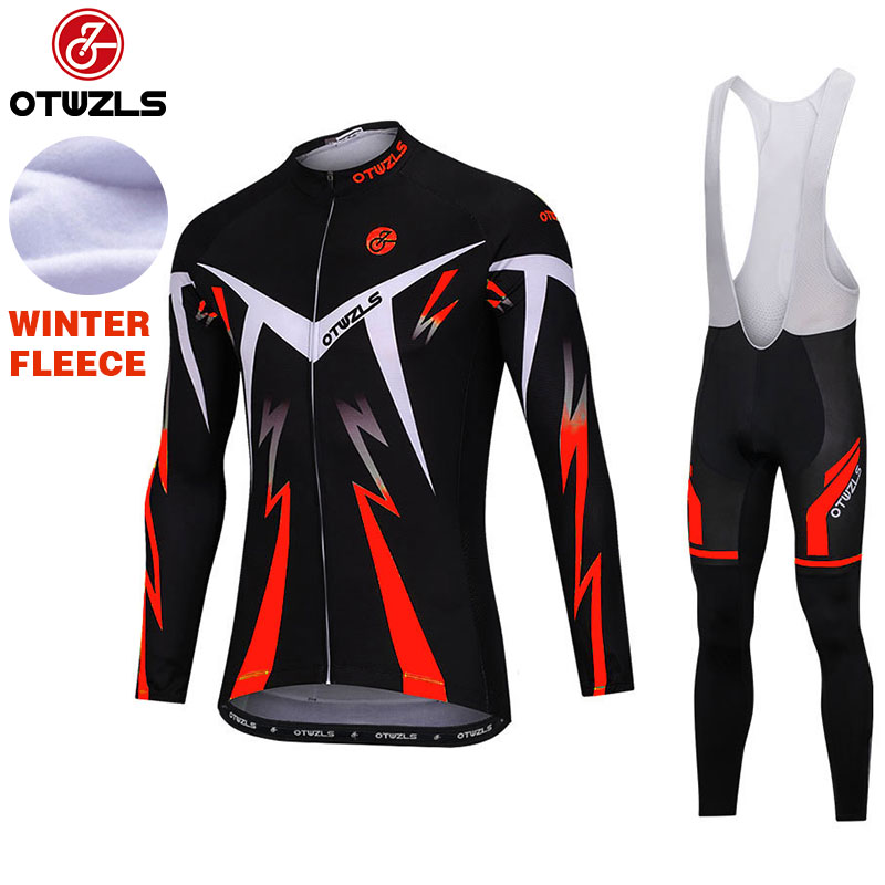 2018 Cycling Bib Sets Long Sleeve Cycling Jerseys Set Ropa Maillot Ciclismo Winter Thermal Fleece MTB Cycling Clothing Pro Team live team cycling jerseys suit a001