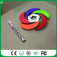 RGB Led Illuminated Open Sign 3D Colored LED Letters Acrylic Letters Customized
