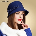 Women Fedoras Hats Female Wedding Party Hats Winter Autumn Vintage Wool Felt Hat for Women Cloche Bucket Church Hats A318