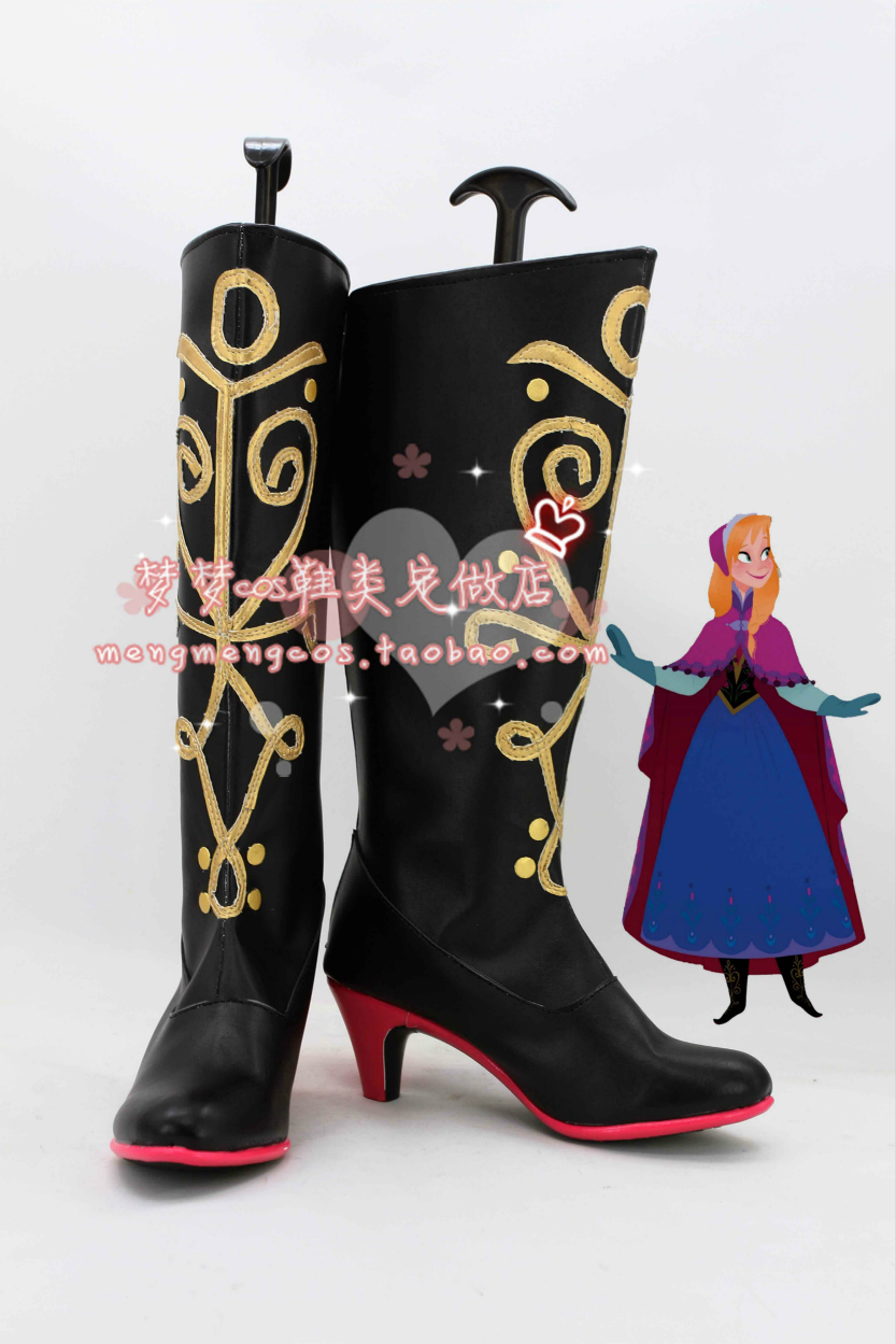 US $64.6 5% OFF|Snow Queen adult Princess Anna Cosplay Anime Shoes Boots in Shoes from Novelty & Special Use on AliExpress