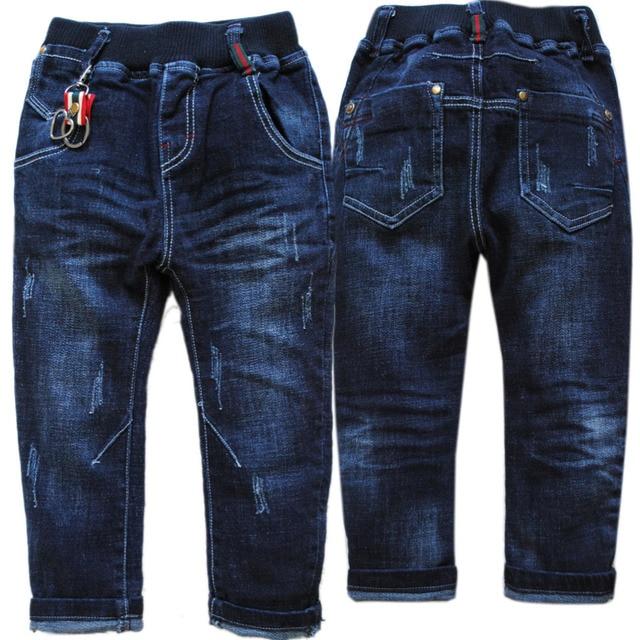 4017 soft denim jeans boy jeans pants kids trousers navy blue spring & autumn children fashion new boys 2017 WASHING NOT FADE