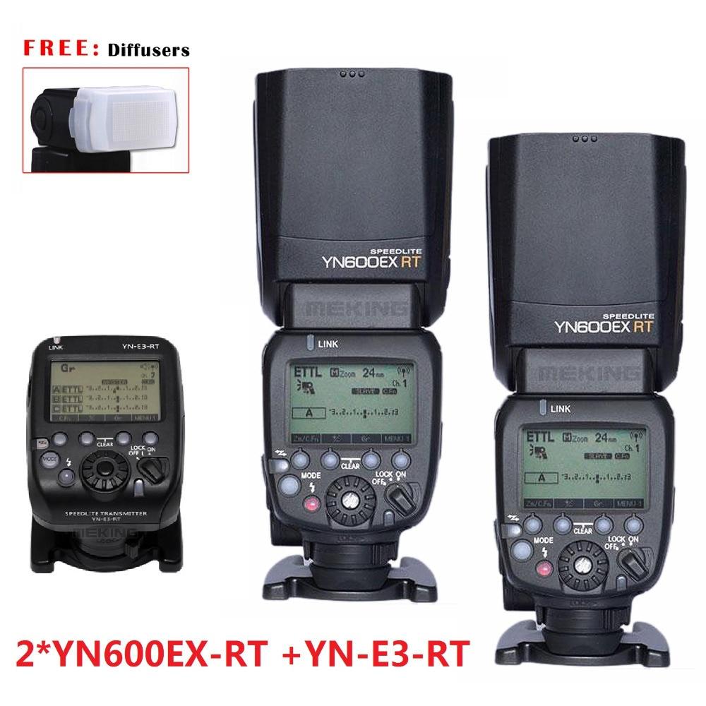 2 шт. YONGNUO YN600EX-RT + YN-E3-RT мастер flash-speedlite для канона RT радио триггера система ST-E3-RT 600EX-RT 5D3 7D 6D гб-70d 60D 5D