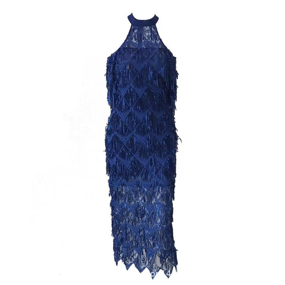 Théegg marine Halter Gland Bleu Bling Robe bourgogne Or D'été 2019 Printemps rx8SqtT6rw