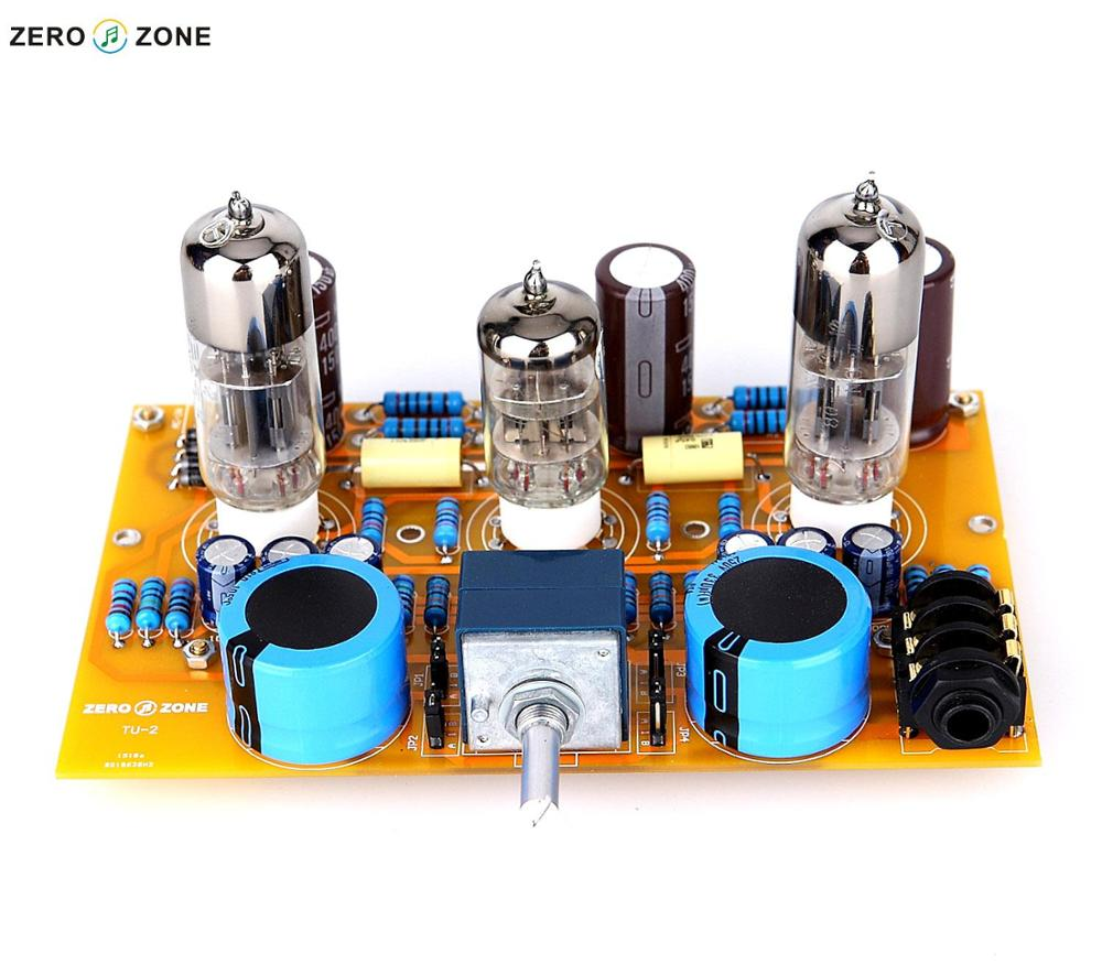 GZLOZONE TU-2 Modified WCF 6N2+6N6 Tube Headphone Amplifier Board + ALPS Potentiometer gzlozone assembled x29f single ended dc class a preamplifier board alps potentiometer