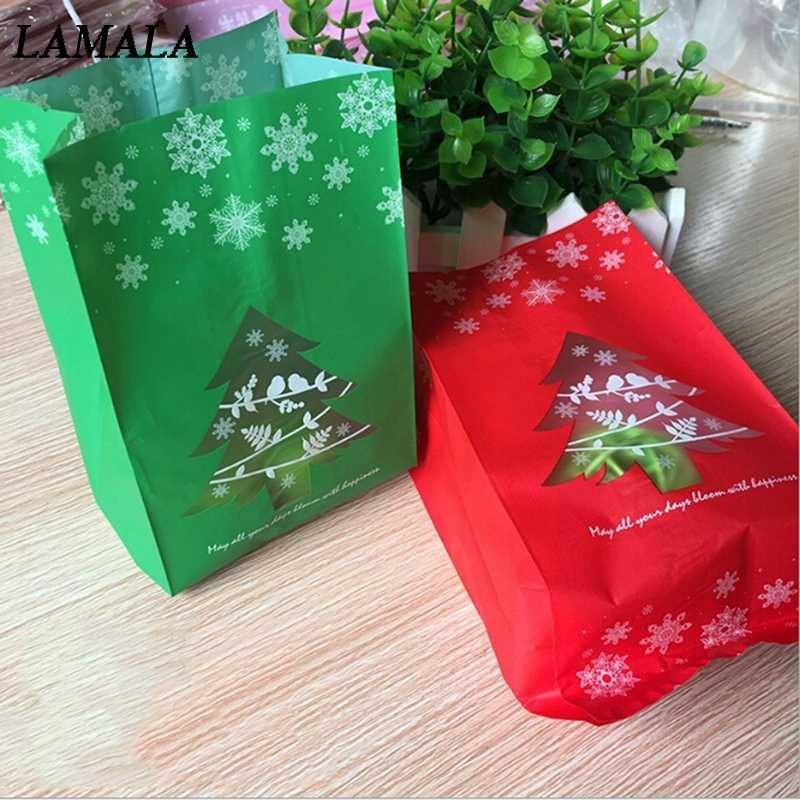 50 шт коробка для конфет в форме снежинки печенья сумки Новый год рождественский