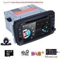 2 Din 7 Inch Car DVD GPS Navigation Radio Player For Mercedes Benz C class W203 W209 Viano W639 VITO W638 MirrorLink DAB+ SWC BT