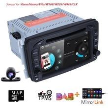 2 Din 7 Pollici Car DVD di Navigazione GPS Radio Player Per Mercedes Benz classe C W203 W209 Viano W639 VITO w638 MirrorLink DAB + SWC BT