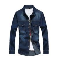 BOLUBAO New Men Denim Shirt Brand Clothing Cotton Long Sleeve Jeans Shirt Male Casual Dress Shirts