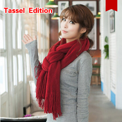 Wild wool scarf shawl female dual  spring and winter long thick winter scarf women Student Collar Clothing Accessories